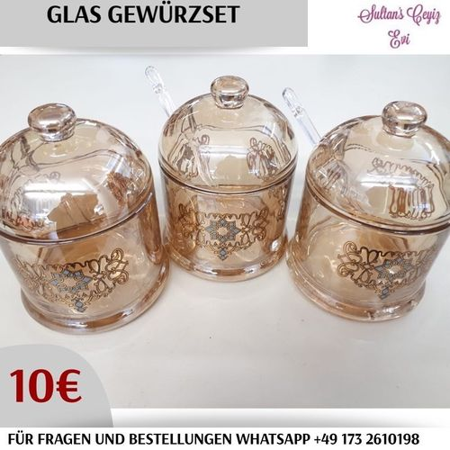 Glass Gewürz Set